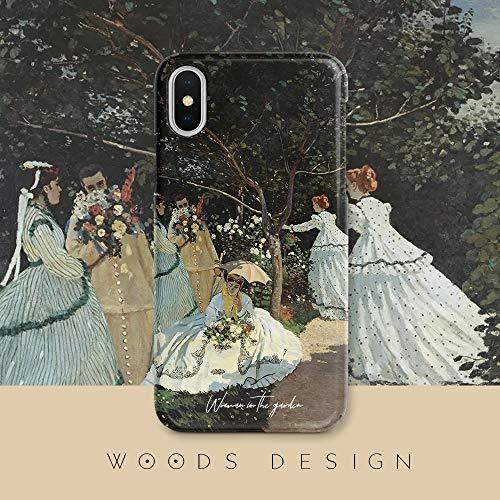Compatible con iPhone Caso 11, Mujeres en el jardín iPhone 11 Pro Casos de la Cubierta for iPhone 11/11 Pro/Pro 11 MAX/X/X/XR/XS MAX / 7p / 8plus / 7/8 De Gama Alta Caja del Tel