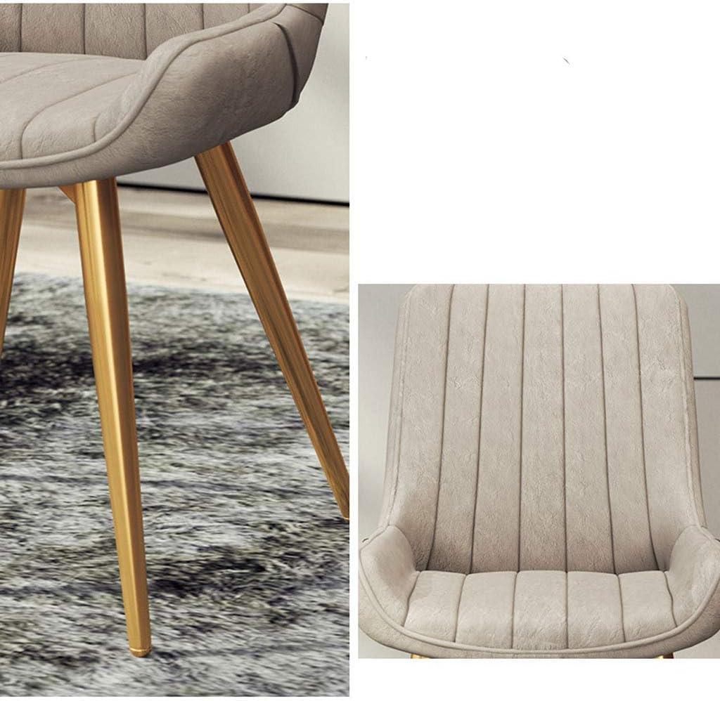Chaise de salle à manger SLL Moderne Minimaliste Accueil Retour Creative Tabouret de Loisirs Restaurant Café Chaise de Bureau en Cuir Moderne (Color : D) E