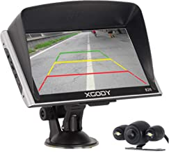 Xgody GPS Navigation for Car 7 Inch Screen Car Navigator System with Backup Camera Support Spoken Turn-By-Turn Directions Lifetime Free US Canada Maps