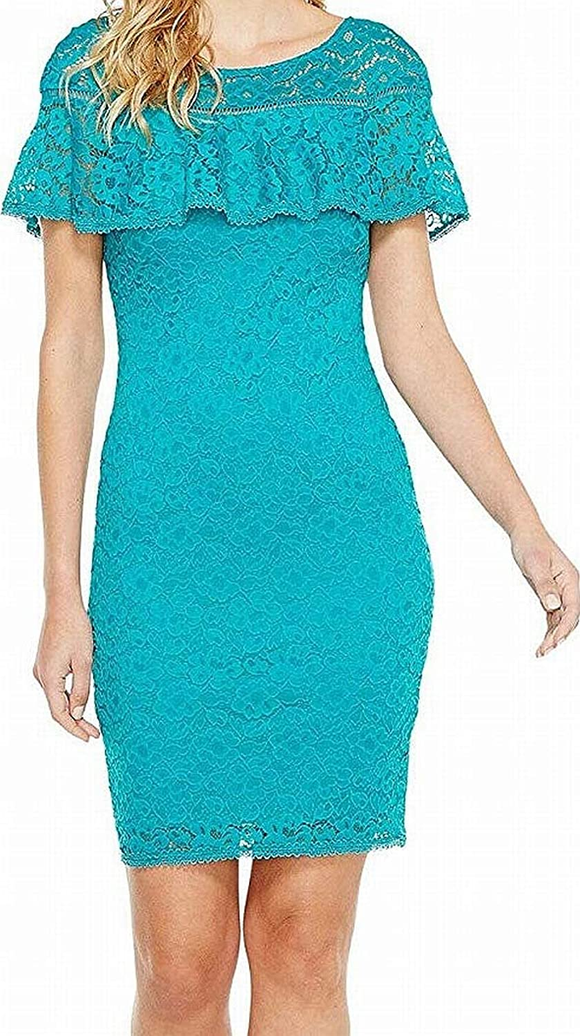 Laundry by Shelli Segal Womens Stretch Lace Dress