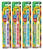 GUM Crayola Neon Marker NEW METALLIC COLORS Child Toothbrush with Suction Cup 4 Pack, Soft