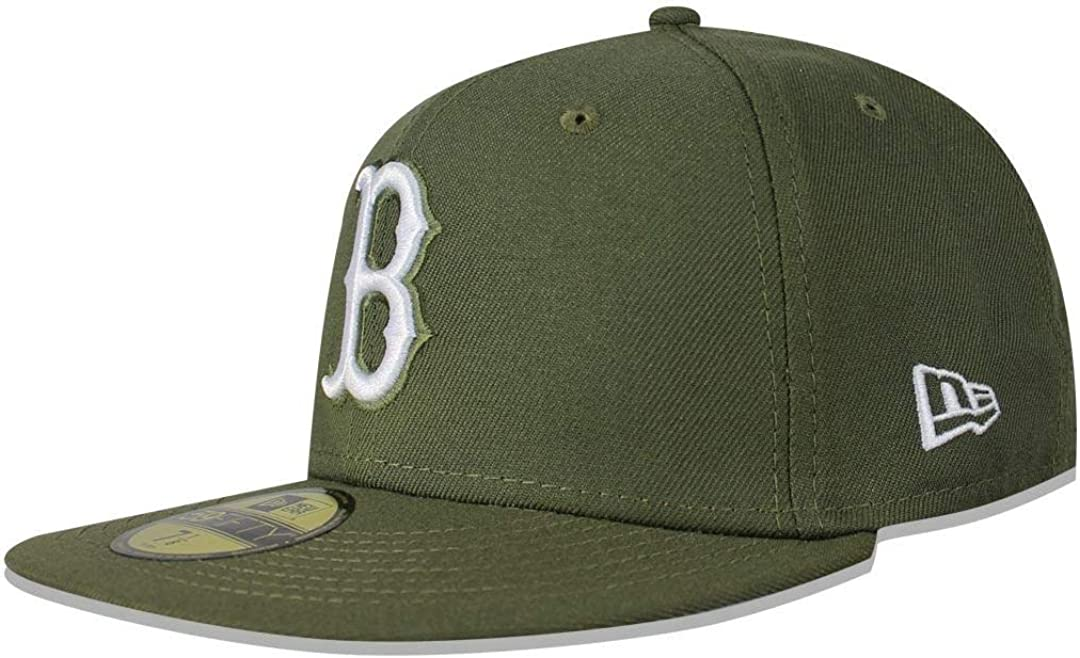 New Era Men's MLB Boston Red Sale price Hat Fitted 59Fifty Sox Basic free shipping