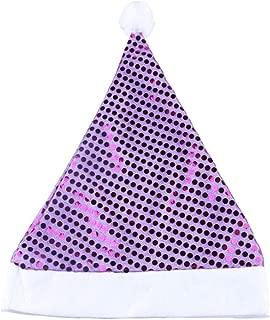 BinaryABC Christmas Santa Claus Hat,Christmas Party Supplies,Glittering Sequin Hat(Purple)