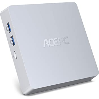 ACEPC Mini PC, Windows 10 Pro 8GB DDR3 / 128GB eMMC Intel Atom Z8350 Mini computadora de Escritorio sin Ventilador con 4K HD, Salida HDMI + VGA, WiFi 2.4G / 5G, Gigabit Ethernet, BT 4.2