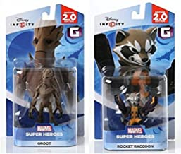 Disney INFINITY Marvel Super Heroes (2.0 Edition) - Groot and Rocket Raccoon Figures from Guardians of the Galaxy Bundle b...