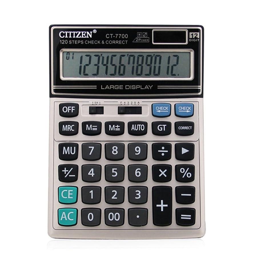 偏心液化するコイルocamo金融電卓12桁ソーラーバッテリーポータブルデスクトップ電卓Office Supplies Largeサイズ