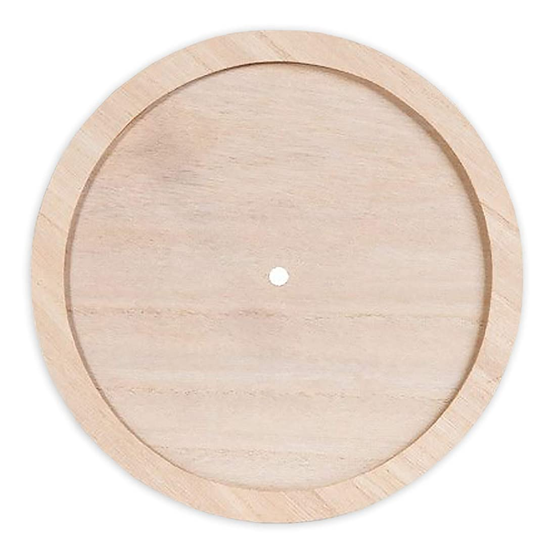 Unfinished Wood Crafts - Round Wooden Clock to Decorate, Paint, Embellish (3 Pack)
