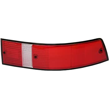 LH Red w//Black Trim USA Version URO Parts 91163195100 Tail Light Lens