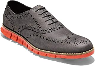 Cole Haan Zerogrand Wing Oxford Pavement Leather/Spicy Orange 10.5