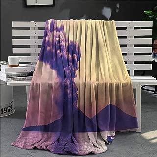 Luoiaax Volcano Plush Throw Blanket for Couch Anak Krakatau Indonesia All Season Premium Fluffy Blanket W70 x L93 Inch