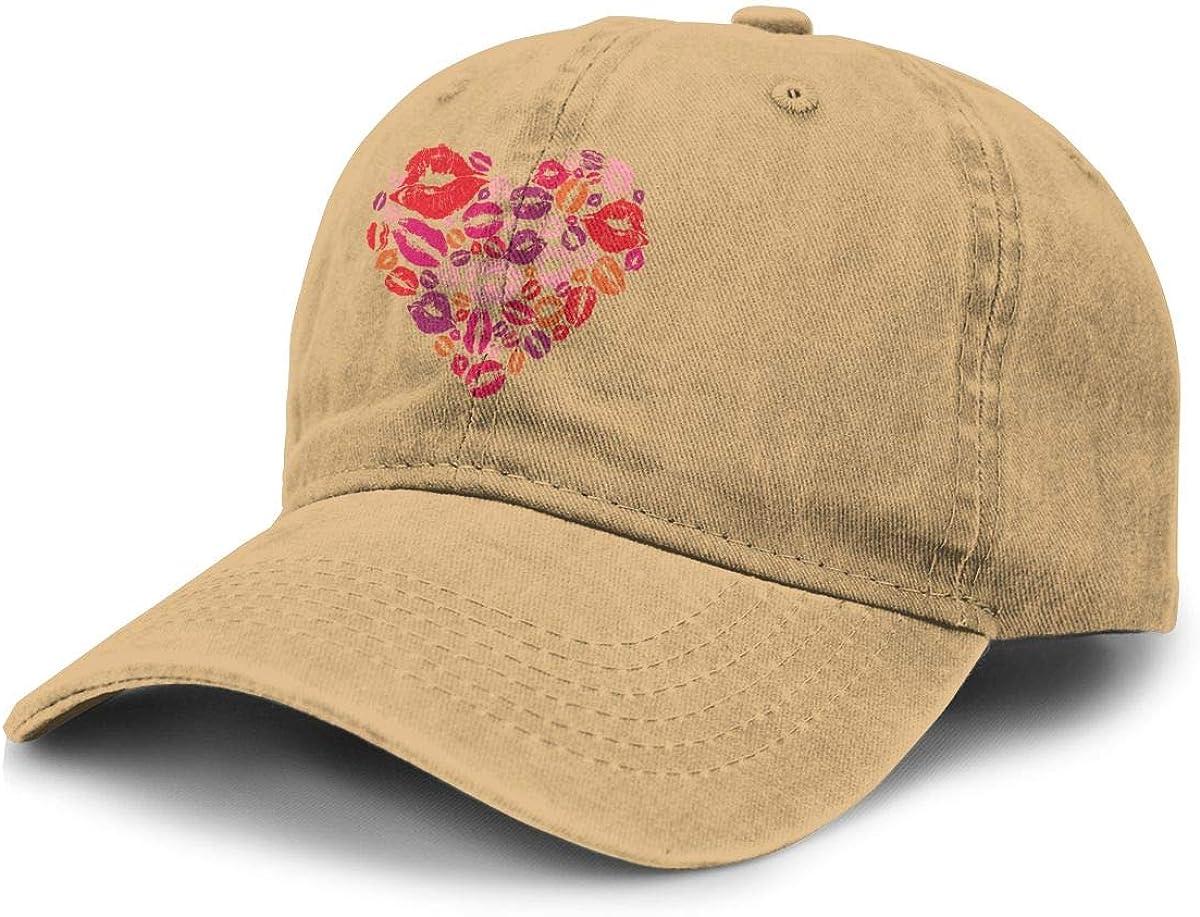 TZT Lip Print Cowboy Hat Sports Baseball Cap Adjustable Hat Unisex