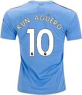 fif KUN Aguero 10 M. City Home 2019 2020 Jersey Color Blue Size S
