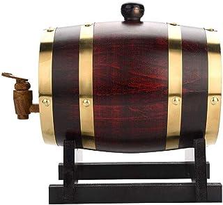 yunyu Baril de chêne Décoration de Baril d'alcool Tonneau en Bois Tonneau de vin Domestique, Distributeur de tonneau de vi...