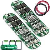 Youmile 2Pack PCB Protection Board Módulo 18650 20A 12.6V Cargador de batería de Litio + Cable 18AWG
