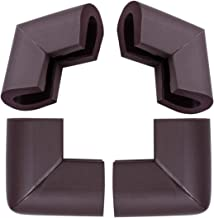 uxcell® 4pcs Foam Furniture Desks Table Edge Cover Pads Protectors Corner Cushions Bumper Guards Dark Brown