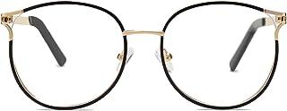 SOJOS Blue Light Blocking Glasses Round Eyeglasses Frame Anti Blue Ray Computer Game Glasses SJ5042
