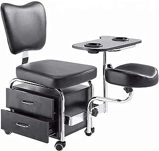 Multifunctionele Pedicure Set/Nagel Pedicure Stoel/Mobiele Opbergkast/Master Stoel Schoonheidssalon Pedicure,Black