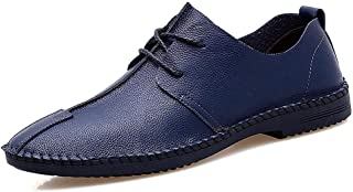 LUKEEXIN Handmade Shoes, Microfiber Leather Men's Shoes, Men's Casual Shoes