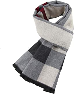 Mens Soft Scarf for Winter - Elegant Classic Cashmere Feel Long Thick Fashion Scarves for Men