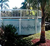 """WaterWarden Pool Fence, Add-On Kit B, Large, White – Extends Partition """"A"""" by 3 Sections Aboveground Enclosure for Kid Safety, EST146"""