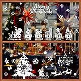 BUONDAC 2pcs Pegatinas Navidad Ventanas Vinilos Stickers Navideños Decorativos...