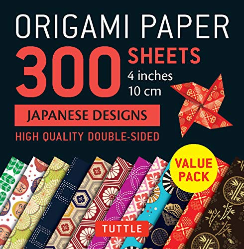 """Origami Paper 300 sheets Japanese Designs 4"""" (10 cm): Tuttle Origami Paper: High-Quality Double-Sided Origami Sheets Printed with 12 Different Designs"""