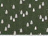 ab 1m: Baumwoll-Weihnachtsstoff, Tannenbäume,