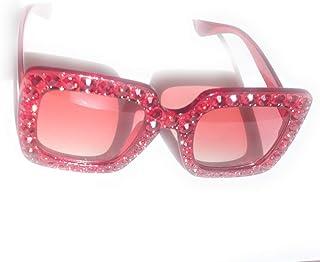 Designer Inspired Oversized Square Sunglasses with...