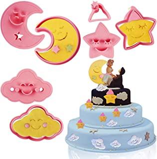 Mity rain Space Cookie Cutter- Twinkle Little Star/Fluffy Cloud/Sweet Moon Fondant Cutters Pastry Baking Cake Decorating Tools set