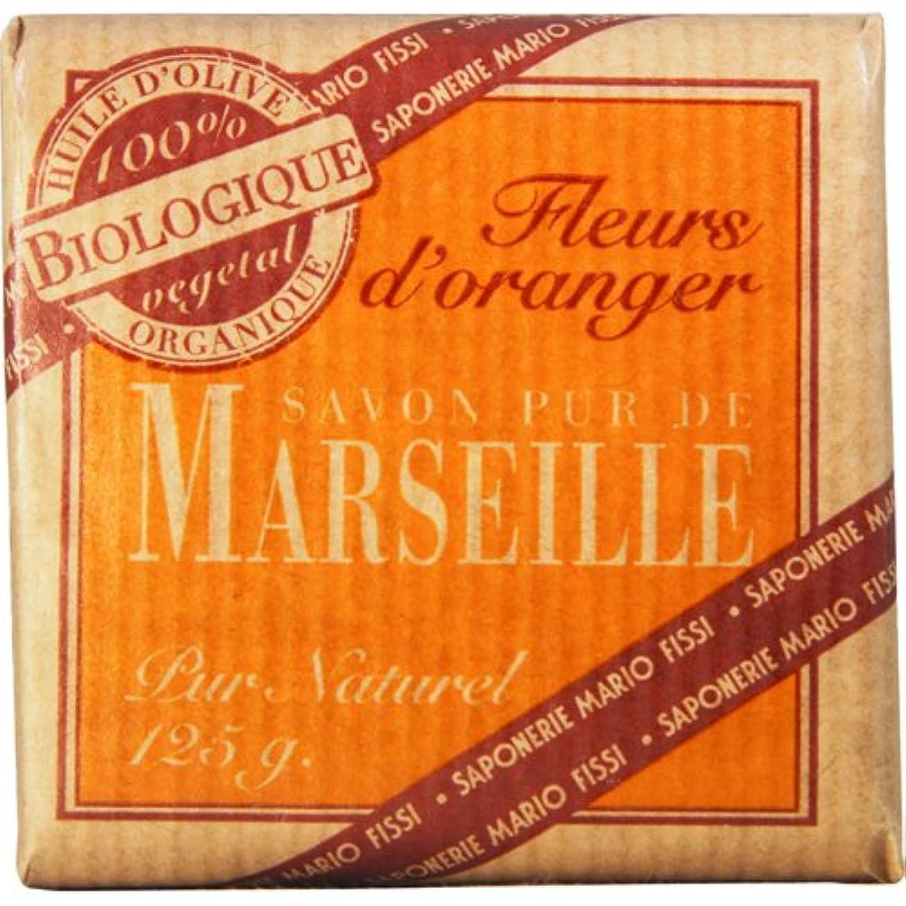 製作ペダル洗練されたSaponerire Fissi マルセイユシリーズ マルセイユソープ 125g Orange Flower オレンジフラワー