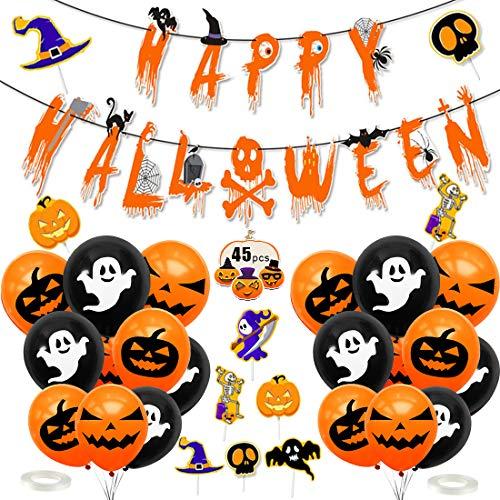 Halloween Decorazioni, Halloween Palloncini Decorazioni, Halloween Decorazioni per Le Feste, Decorazione Halloween Palloncini, Happy Halloween Banner, per Casa Stregata Party Decorazioni