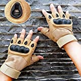 DreamPalace India Tactical Gloves with Hand Grip for Workout, Bike Driving, Cycling, Motorcycle