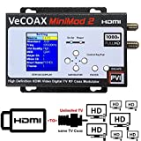 VECOAX MINIMOD-2 | HDMI TO COAX MODULATOR to distribute your hdmi video sources to all TVs as HD Channels over existing tv coax cables