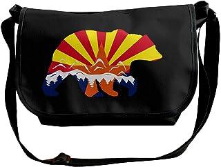 BUGKHD Arizona State Bandera Oso Montaña Hombro Crossbody Bolsa para Hombres Mujeres Messenger Bolso Moda Bolsa de Satchel...