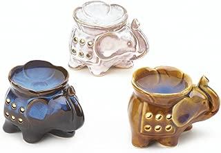Smart Living Company Essential Candle Holder, Elegant Elephant Oil Warmer Trio