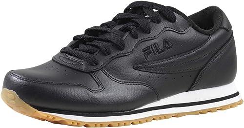 Fila Hommes's Euro-Jogger-II noir blanc Gum paniers chaussures Sz  12