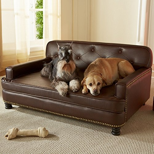 Leather Dog Bed for Large Dogs