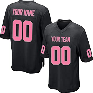 73df2fe66a8 Custom Black Mesh Replica Football Game Jersey Embroidered Team Name and Your  Numbers
