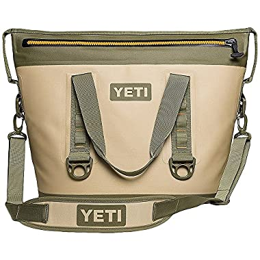 YETI Hopper Two 30 Portable Cooler, Field Tan/Blaze Orange