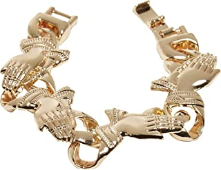 Pray Hands - Pulsera para manos (S/M), color dorado
