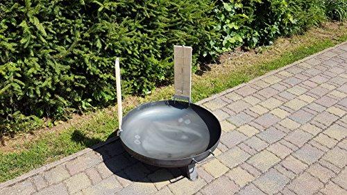 Czaja Stanzteile Brasero Ø 80 cm avec 2 planches de saumon et supports en acier inoxydable
