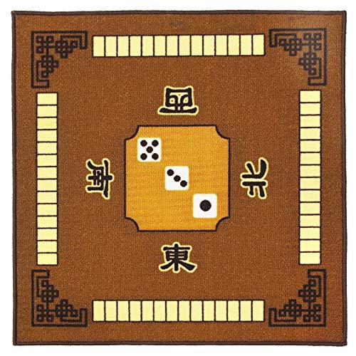 Cubierta de Mesa de Mahjong Alfombrilla de Mesa Cuadrada Antideslizante, Alfombrilla de Mesa, Alfombrilla de Suelo para niños para Paigow Poker, Juego de Cartas de dominó, Juguete
