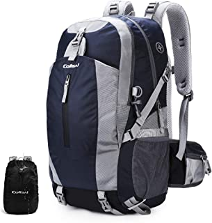 Colisal 40L Hiking Backpack Waterproof Trekking Rucksack with Rain Cover and Hydration Daypack Women Men Camping Cycling Traveling Climbing Running Walking Sport Outdoor Large