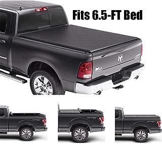 Gevog Soft Roll-Up Tonneau Cover Assembly for 2009-2018 Dodge Ram 1500, 2010-2018 Dodge Ram 2500 3500 6.5' Fleetside Bed Truck Cargo Cover