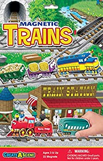 Create-A-Scene Magnetic Playset - Trains