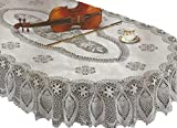 RJ Quality Product Design Crochet Tablecloth, Off White