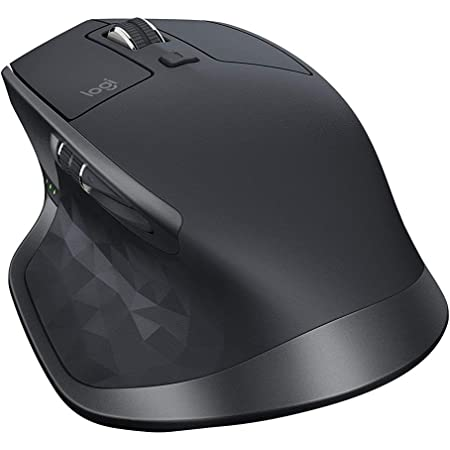 Logitech MX Master 2S Wireless Mouse with FLOW Cross-Computer Control and File Sharing for PC and Mac, Graphite (Renewed)