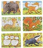 Goki Mini-Puzzle Forest Animals