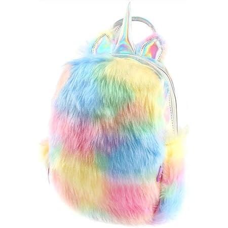 Plüsch-Mini-Einhorn-Rucksack, niedlicher Plüsch-Einhorn-Rucksack für Mädchen, Schultasche, Reisetasche.