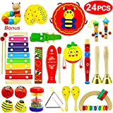 Vykor Musical Toys Wooden Musical Instruments for Toddlers Musical Set Percussion Instruments